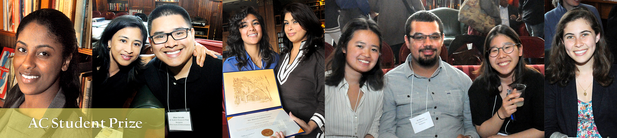 Student Prize recipients