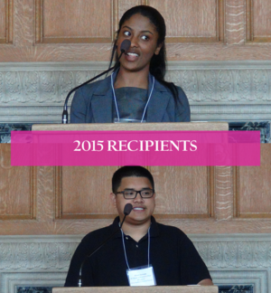 Image of two 2015 AC Student Recipients