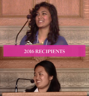 Image of two 2016 AC Student Recipients