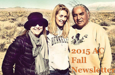 2015 Fall Newsletter thumbnail featuring AC Faculty Pat Steenland, Community Partner Harry Williams and AC Alumna Jenna Cavelle