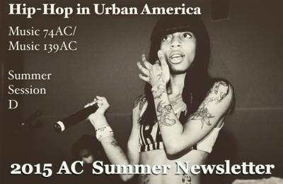 2015 Summer Newsletter featuring hip hop artist