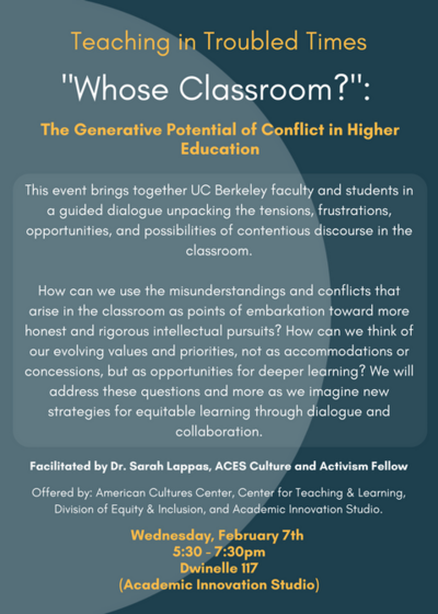 Whose Classroom Flyer