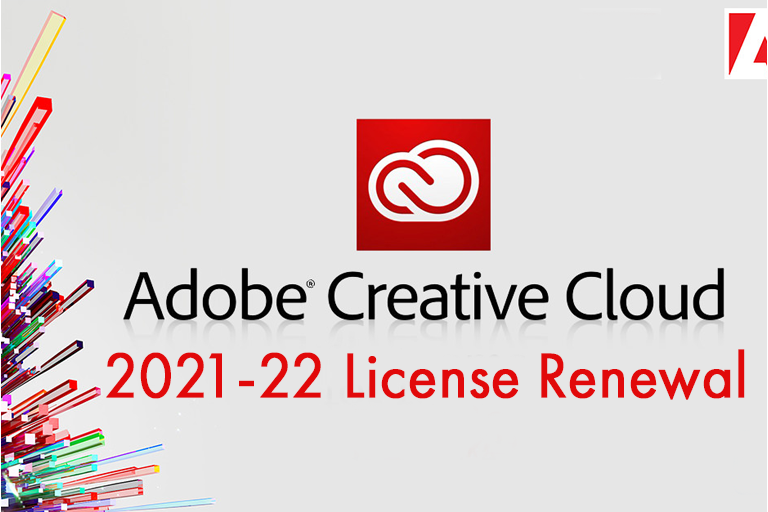 Photo reminding everyone of how to renew Adobe License in 2021-22