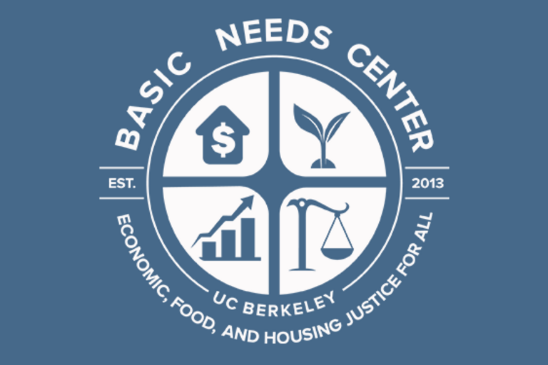 Basic Needs Service Logo: Economic, Food, and Housing Justice for all