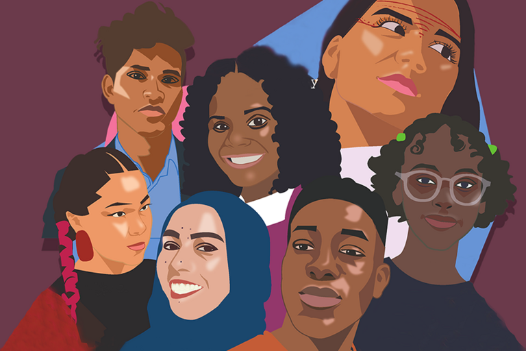 Collage of people of color who support environmental protection and community rights