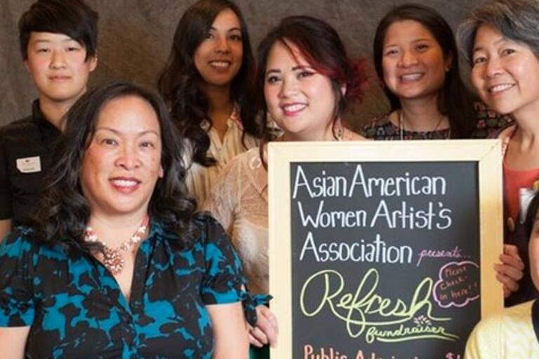 Photograph of the Asian American Women Artists Association