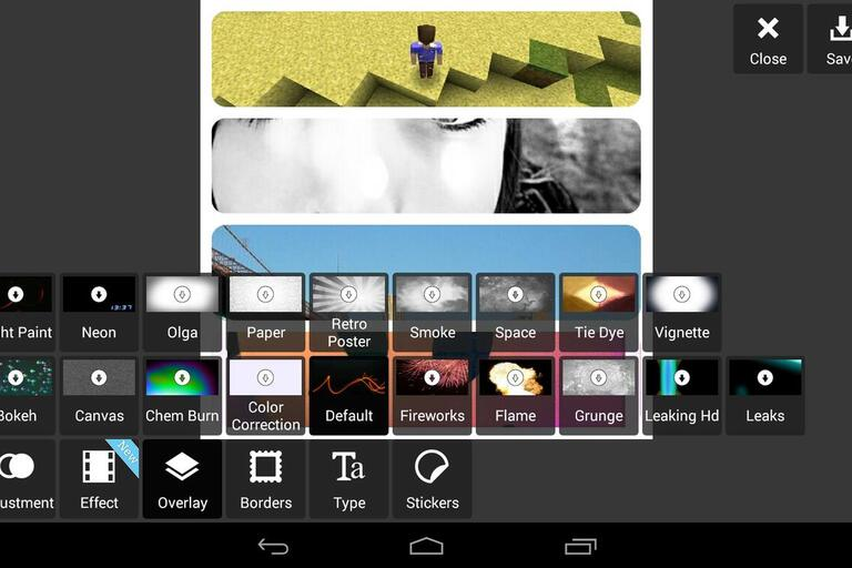 Screenshot displaying how Pixlr tools to improve defects in a user's image