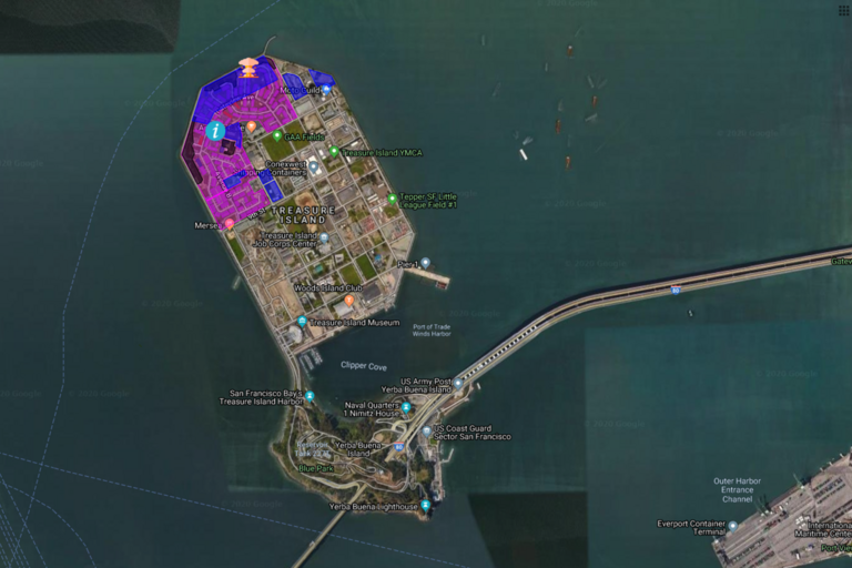 Screenshot of Environmental Justice for Treasure Island