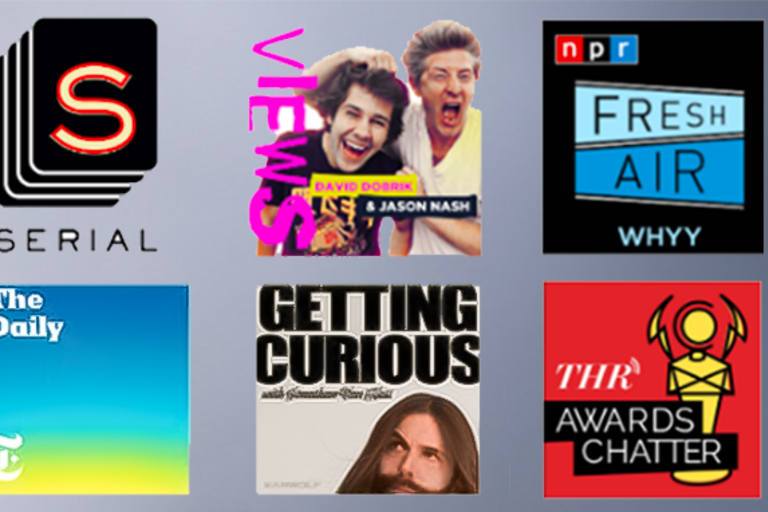 screenshot of nationally recognized podcasts