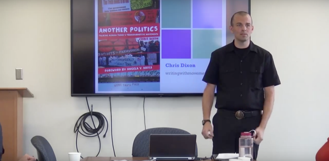 AC Spotlight Series: Chris Dixon [Video] on his publication 'Another Politics: Talking Across Today's Transformative Movements'