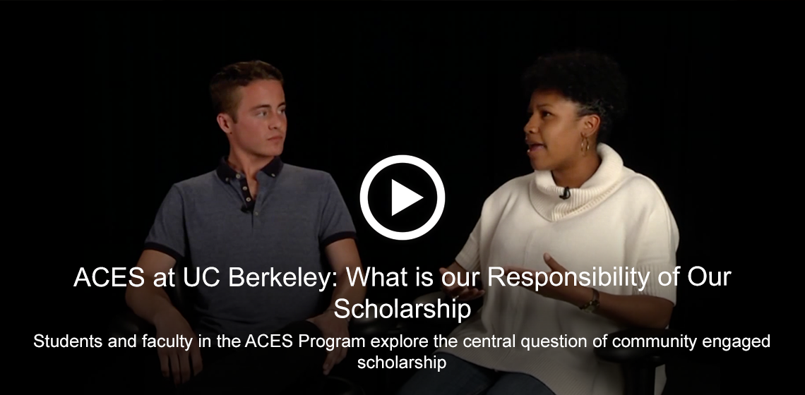 ACES at UC Berkeley: What is our Responsibility of Our Scholarship [Video]