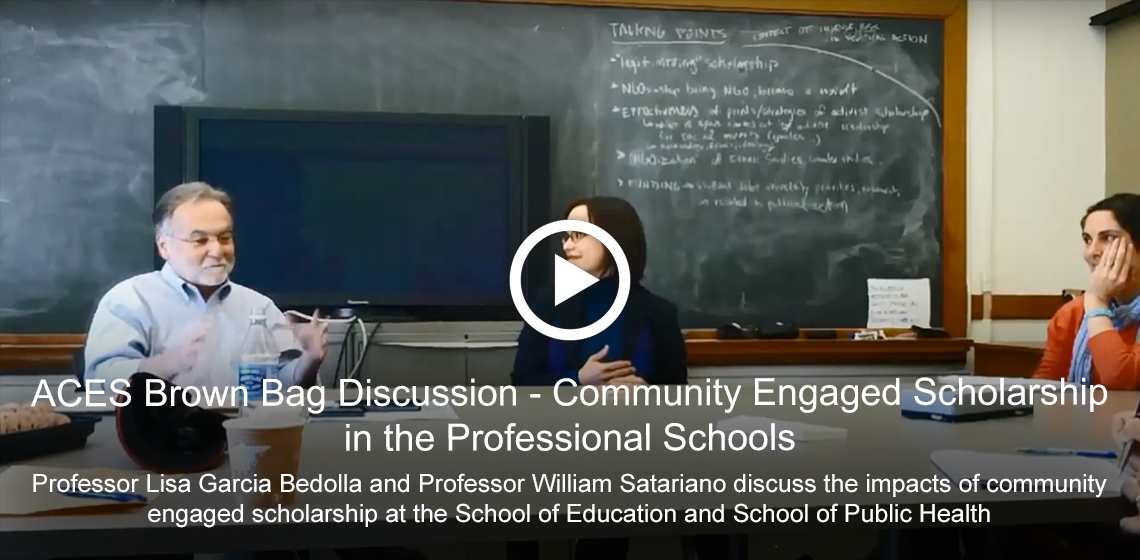 ACES Brown Bag Discussion - Community Engaged Scholarship in the Professional Schools [Video]