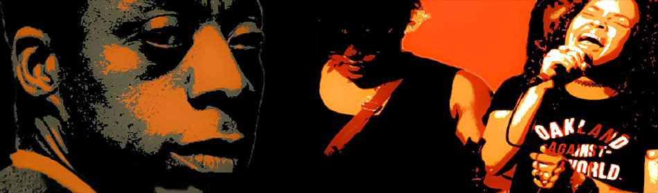 Collage of James Baldwin and Black Lives Matter protestors