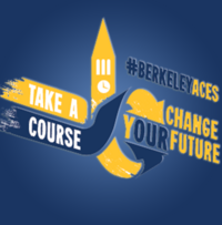 """American Cultures Engaged Scholarship Logo and Slogan """"Take a course change yOUR future"""""""