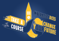 "American Cultures Engaged Scholarship Logo and Slogan ""Take a course, change yOUR future'"